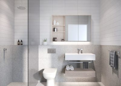 Current Group electricians complete electrical works of bathroom at Prahran townhouses