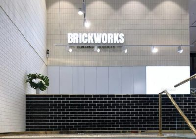 Current Group electricians complete electrical works of reception area at Melbourne Brickworks Showroom