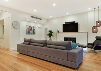 Current Group electricians complete electrical works of living room at Melbourne home