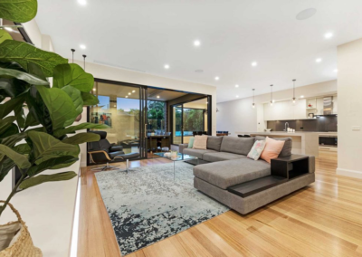 Current Group electricians complete electrical works of living area at Melbourne home